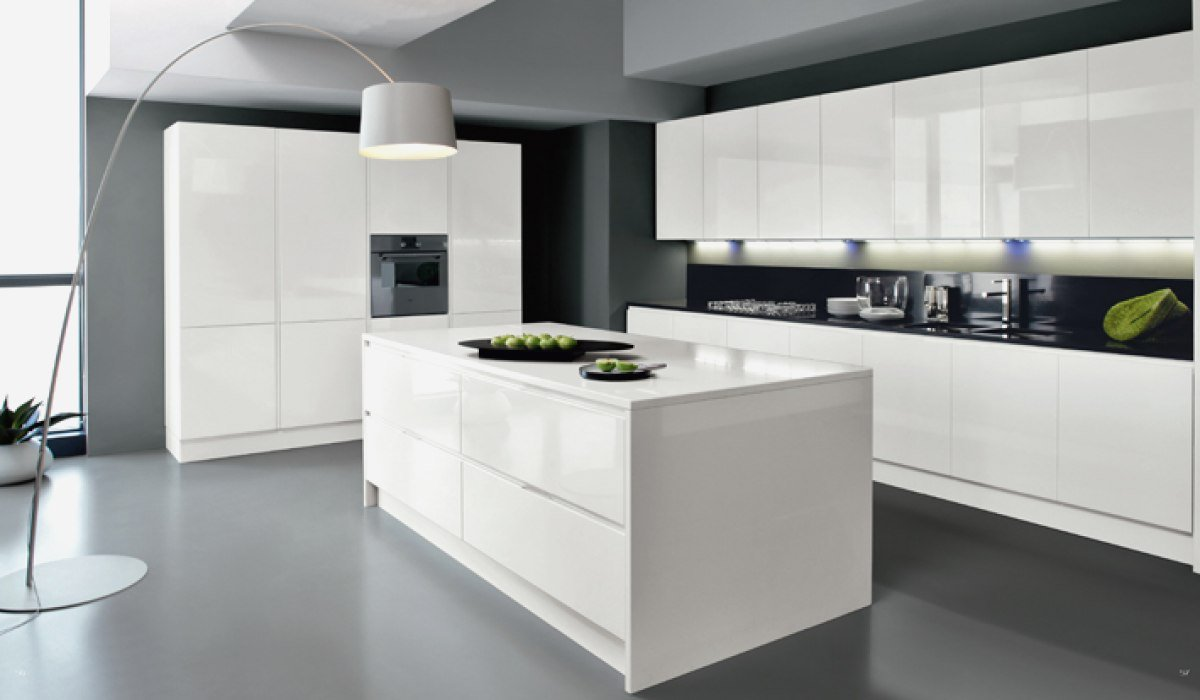 Delicieux Cuisine Design Blanche Beautiful Cuisine Blanc Laque Avec Ilot 12 Design  Blanche Systembase